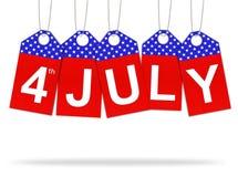 Le quart du Jour de la Déclaration d'Indépendance de juillet Photos libres de droits