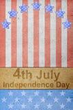Le quart du Jour de la Déclaration d'Indépendance de juillet Images libres de droits