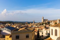 Le quart médiéval de Gerona Costa Brava, Catalogne, Espagne Photos libres de droits