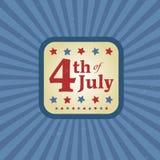 Le quatrième juillet illustration libre de droits