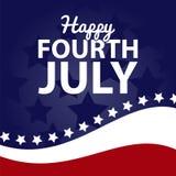 Le quatrième juillet heureux photos libres de droits
