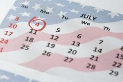 Le quatrième juillet - Jour de la Déclaration d'Indépendance Image stock