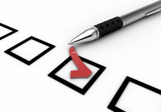 Le questionnaire 4 Images libres de droits