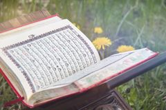 Le Quran saint - livre sacr? islamique image stock