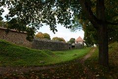 Le règlement à un château médiéval de Trakay Photo libre de droits