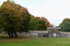 Le règlement à un château médiéval de Trakay Photos libres de droits