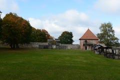 Le règlement à un château médiéval de Trakay Images libres de droits