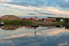 Le règlement de Solovki sur la grande île de Solovki photo libre de droits