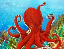 Le récif coralien - illustration pour les enfants Photos libres de droits