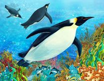 Le récif coralien - illustration pour les enfants Image libre de droits
