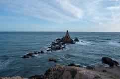 Le récif des sirènes dans le cap De gata Photographie stock