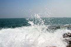 Le récif et la mer Photos stock