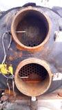Le réfrigérateur refroidi à l'eau est un type refroidi à l'eau condensateur photographie stock libre de droits