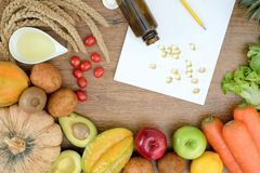 Le régime alimentaire sain pèsent le régime Ketogenic de concept de perte photographie stock libre de droits