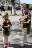 Le régiment immortel d'action sur le défilé de victoire Photos stock