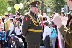 Le régiment immortel d'action sur le défilé de victoire Image stock