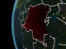 Le République démocratique du Congo de l'espace la nuit photographie stock