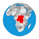 Le République démocratique du Congo sur le globe illustration de vecteur
