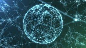 Le réseau abstrait de plexus intitule la boucle cinématographique de fond illustration de vecteur