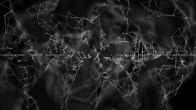 Le réseau abstrait de plexus intitule la boucle cinématographique de fond Boucle sans couture illustration libre de droits