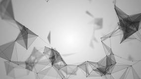 Le réseau abstrait de plexus intitule le fond cinématographique illustration stock