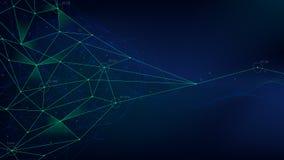 Le réseau analytique, structure polygonale avec des lignes engrènent, technologie futuriste, illustration de vecteur illustration de vecteur