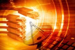 Le réseau câble le fond de technologie Photographie stock libre de droits