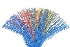 Le réseau câble, transmission des données en télécommunication Images libres de droits
