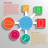Le réseau de transmission d'Infographic, calibre infographic de connexion illustration stock
