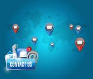 le réseau de transmission de media de contactez-nous illustration de vecteur