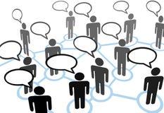 Le réseau de transmission parlant de la parole d'Everybodys Image libre de droits