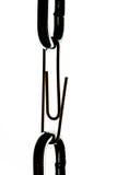Le réseau en acier est lié un trombone Photos libres de droits