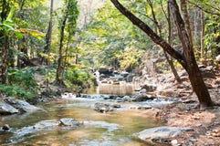 Le réseau local a chanté des cascades à écriture ligne par ligne normales de la Thaïlande Photos stock