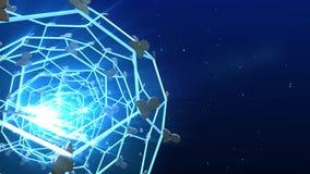 Le réseau relient des personnes à léger et à bleu illustration libre de droits