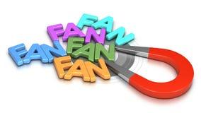 Le réseau social, obtiennent plus de fans Photo stock