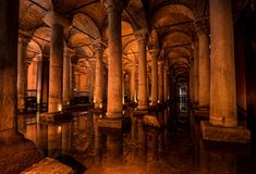 Le réservoir de basilique Photos libres de droits