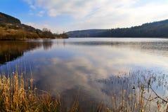 Le réservoir de Cantref, Nant-ddu, Brecon balise le parc national Photos stock