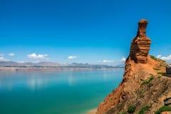 Le réservoir de liujiaxia Image libre de droits