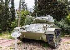 Le réservoir léger de l'Américain M42 Chaffee se trouve sur le chantier commémoratif près du musée blindé de corps dans La photos libres de droits