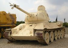 Le réservoir moyen soviétique T-34 Photo stock