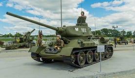 Le réservoir soviétique T-34 Image libre de droits