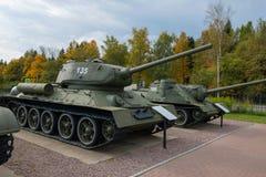 Le réservoir soviétique T-34 Photo stock