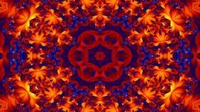 Le résumé éclatent le mouvement décoratif ornemental de kaléidoscope de modèle symétrique doux de concept de diffusion géométriqu banque de vidéos
