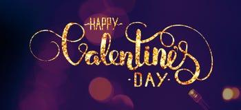 Le résumé allume le bokeh Couleur ultra-violette, lettrage de Saint-Valentin images libres de droits