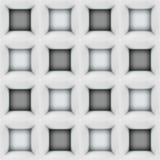 Le résumé blanc et noir cube le modèle 3D sans couture Photographie stock libre de droits