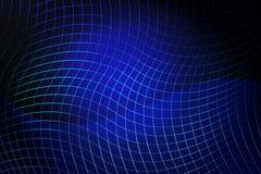Le résumé bleu ondule sur un fond clair illustration de vecteur