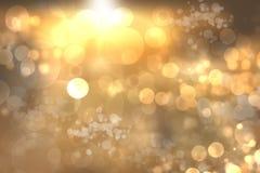 Le résumé a brouillé le fond de fête pour Noël avec les lumières d'or defocused de bokeh illustration de vecteur