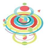 Le résumé a coloré le fond, la sphère et les segments géométriques modernes Image stock