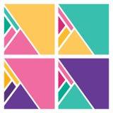Le résumé colore le fond plat géométrique Photographie stock