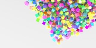Le résumé cube le fond tridimensionnel Photo libre de droits